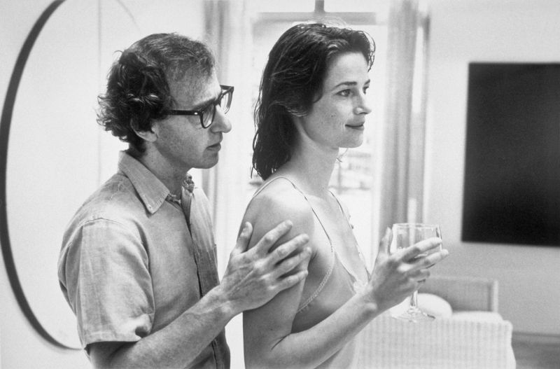 Woody Allen and Charlotte Rampling in the film Stardust Memories