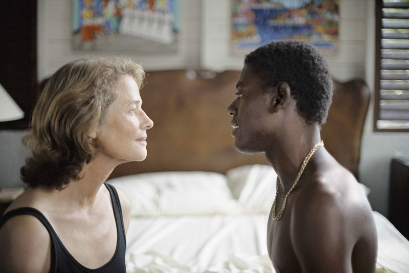 Charlotte Rampling and Ménothy César in the film Vers le sud