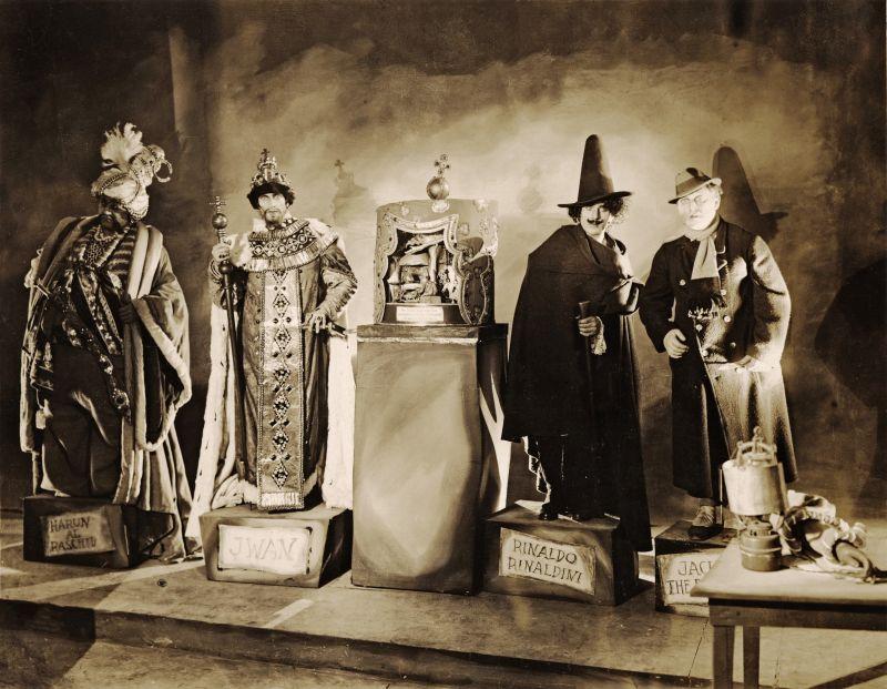 Emil Jannings, Conrad Veidt, Wilhelm Dieterle und Werner Krauß in Das Wachsfigurenkabinett, Deutschland 1924, Regie: Paul Leni