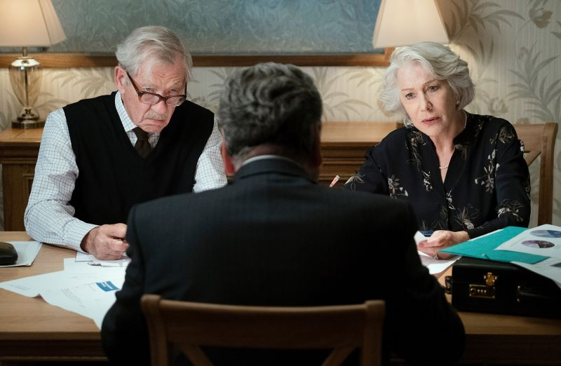 Ian McKellen and Helen Mirren in The Good Liar (USA 2019, directed by Bill Condon)