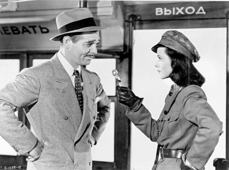 Clark Gable, Hedy Lamarr in Comrade X