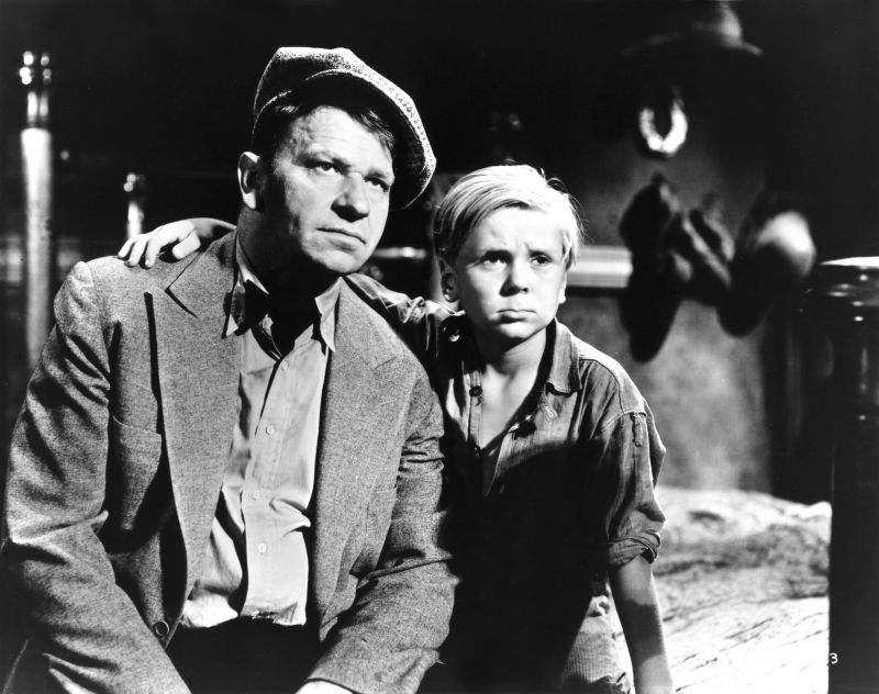 Wallace Beery, Jackie Cooper in The Champ