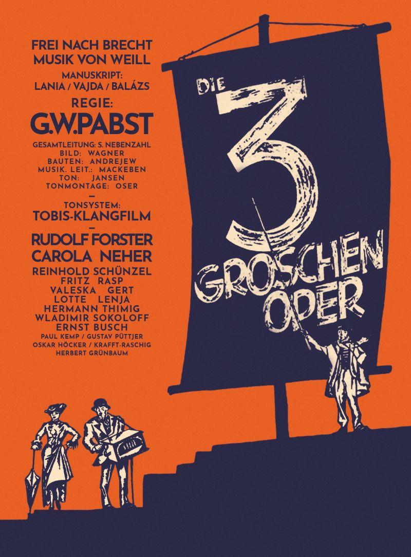 Cover: farbige Grafik mit drei Menschen vor einem sehr großen Schild mit dem Titel des Films