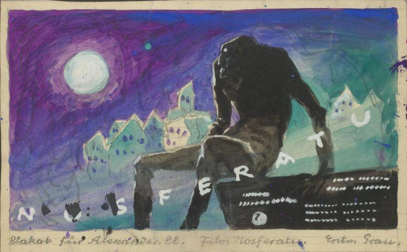 Plakatentwurf zu dem Film Nosferatu (D 1929, Regie: F. W. Murnau)