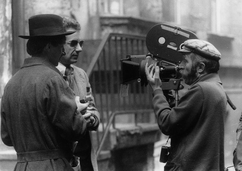 Peter Lilienthal bei den Dreharbeiten zu Malatesta (BRD 1969)