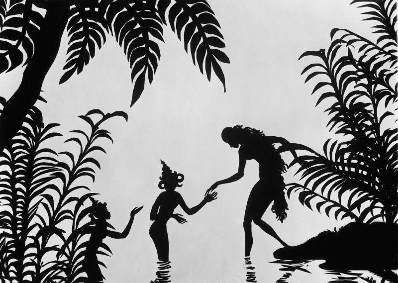 Szenenfoto aus dem Silhouettenfilm Die Abenteuer des Prinzen Achmed