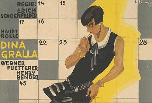 Film poster by Joef Fenneker: Das Fräulein von Kasse 12