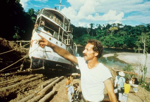 Behind the scenes of the film Fitzcarraldo