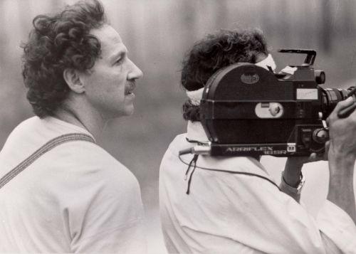 Werner Herzog bei den Dreharbeiten zu Die Ballade vom kleinen Soldaten, BRD 1948