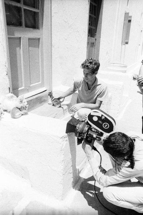 Werner Herzog und Thomas Mauch bei den Dreharbeiten zu Lebenszeichen