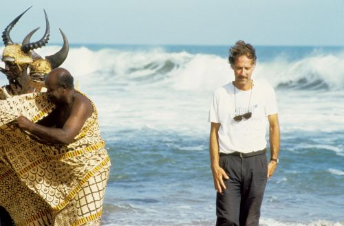 Werner Herzog bei den Dreharbeiten zu dem Film Cobra Verde