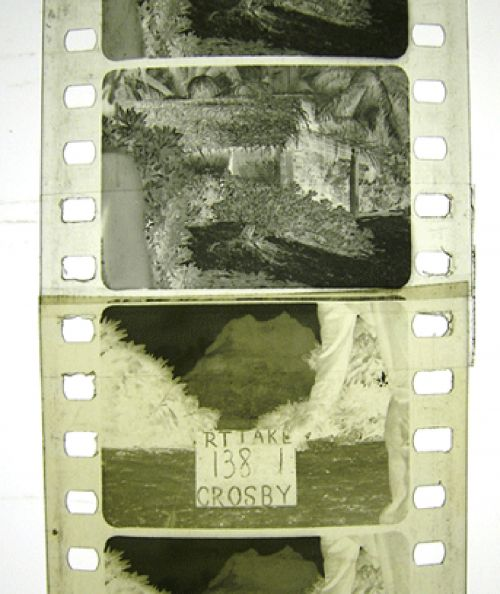 Filmmaterial mit sichtbarer Klebestelle