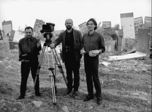 Produktionsfoto des Dokumentarfilms Die Mauer (DDR 1989/1990, Regie: Jürgen Böttcher)