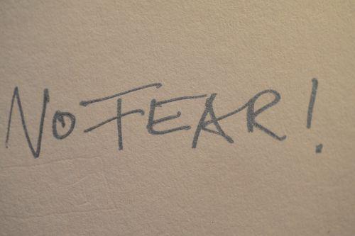 """Foto des Autographs """"No Fear!"""" von Bernd Eichinger (Fotograf: Jürgen Olczyk)"""