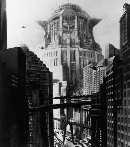 Production photo from the film Metropolis (Germany 1927, directed by Fritz Lang)