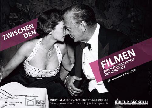 Ausstellungsplakat KulturBäckerei Lüneburg, zu sehen Jane Fonda in weit ausgeschnittenem Kleid