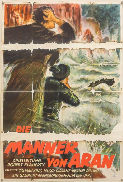 Plakat zu Die Männer von Aran (D 1934, Regie: Robert J. Flaherty)