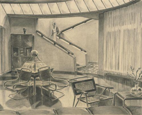 Set design by Erich Kettelhut, Quick (Germany 1932, director: Robert Siodmak), source: Deutsche Kinemathek – Erich Kettelhut Archiv