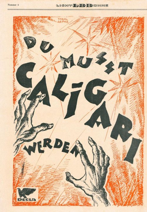 Marketing illustration Du musst Caligari werden