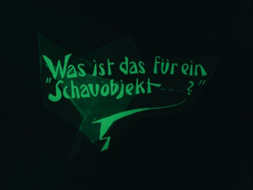 Intertitle: Das Cabinet des Dr. Caligari