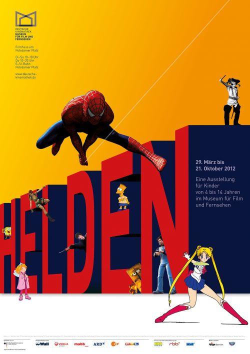 """Plakat der Kinderausstellung """"Helden"""", Deutsche Kinemathek, Berlin"""