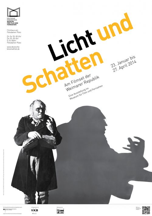 "Poster of the exhibition ""Light and Shadow — On the Film Set of the Weimar Republic"", Deutsche Kinemathek, Berlin"