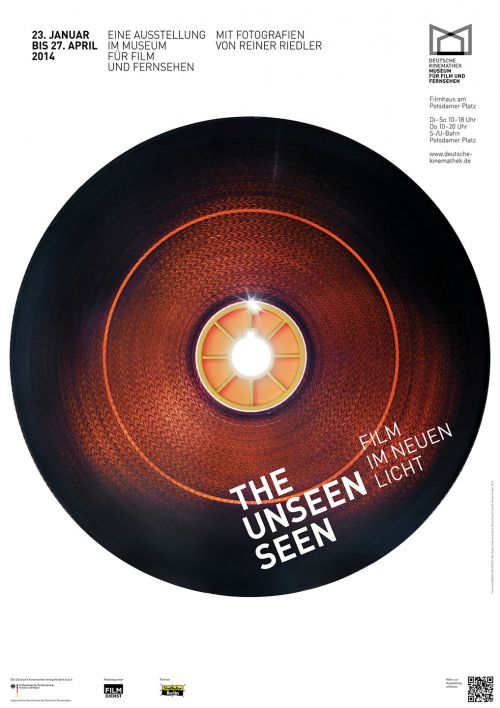"Poster of the exhibition ""The Unseen Seen — Film in a New Light"", Deutsche Kinemathek, Berlin"