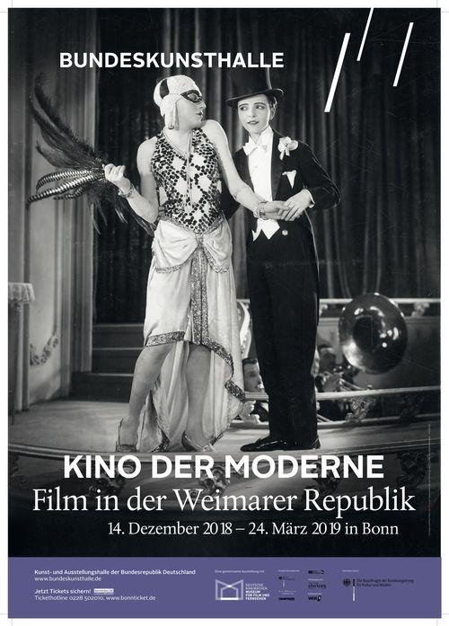 Plakat zur Ausstellung Kino der Moderne. Film in der Weimarer Republik in der Bundeskunsthalle Bonn