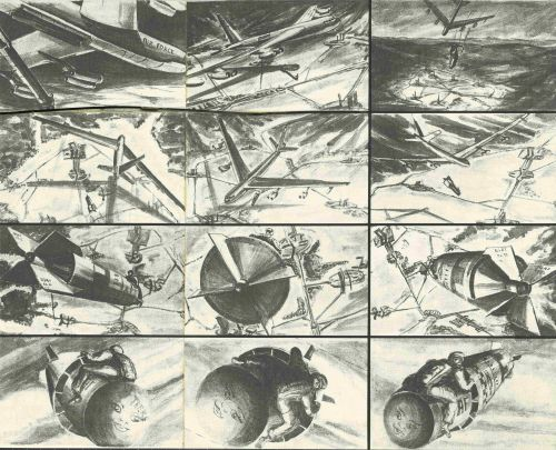 Storyboard von Ken Adam zu Stanley Kubricks Dr. Strangelove or: How I Learned to Stop Worrying and Love the Bomb (GB,1964) © Deutsche Kinemathek – Ken Adam Archiv