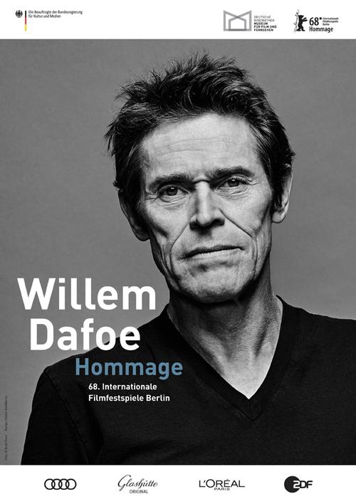 Plakat zur Hommage an Willem Dafoe