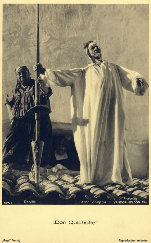 Still from the film Don Quichotte
