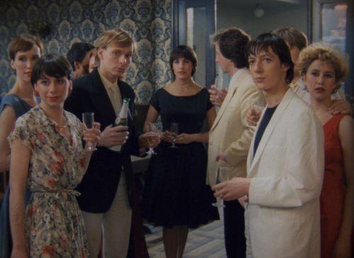 Still in color from the film Hôtel de Acacias