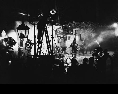 Szenenfoto in schwaz-weiß aus dem Film Lola Montez