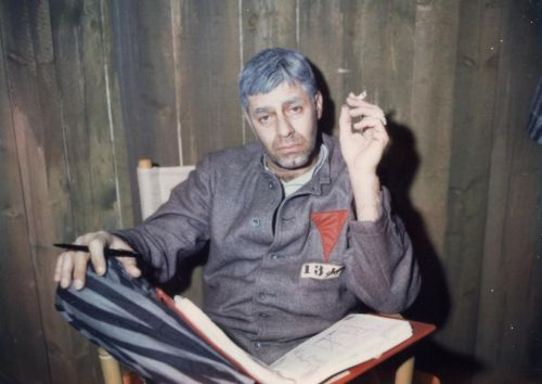 Jerry Lewis während der Dreharbeiten zu The Day the Clown Cried