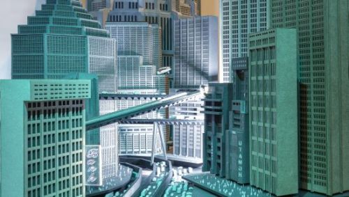 Model of Oberstadt in Metropolis