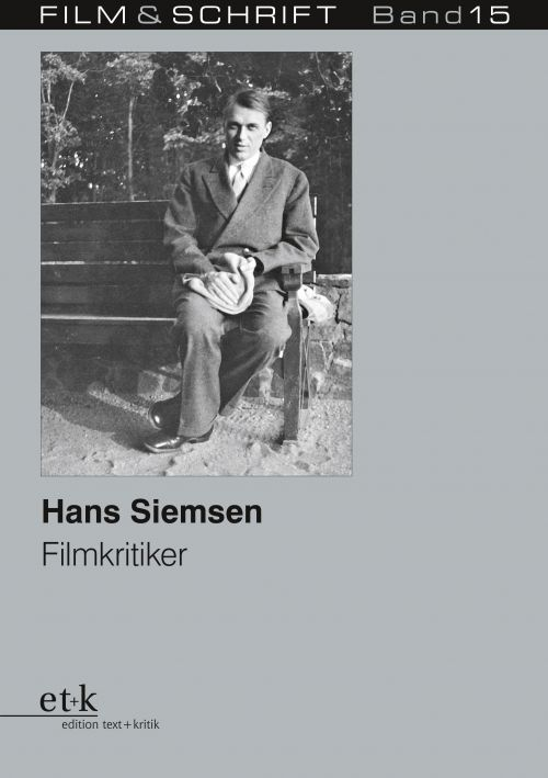 """Cover des Buches """"Hans Siemsen. Kritiker und Essayist"""", herausgegeben von Rolf Aurich und Wolfgang Jacobsen"""