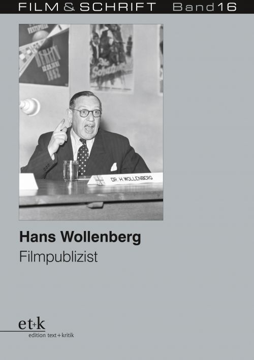 """Cover des Buches """"Hans Wollenberg. Filmpublizist"""", herausgegeben von Rolf Aurich und Wolfgang Jacobsen"""