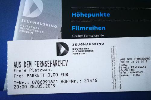 Kinokarte zur Filmreihe: Aus dem Fernseharchiv der Deutschen Kinemathek